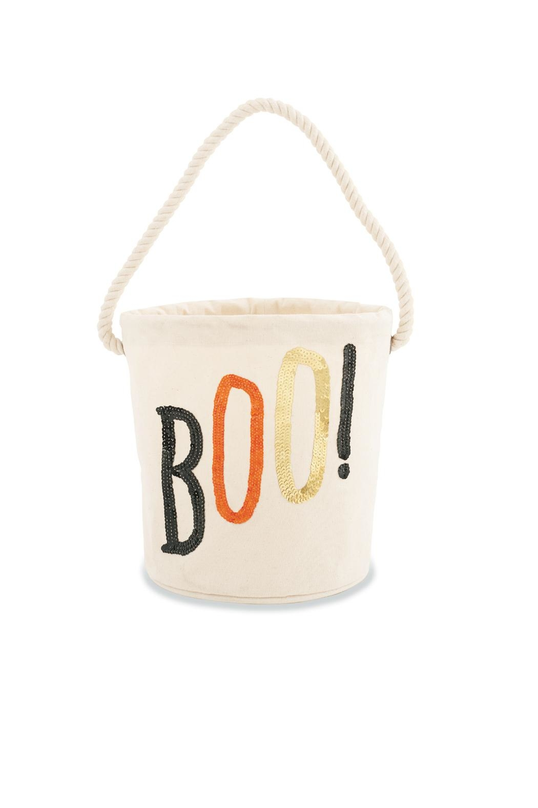 Mud Pie Boo Halloween Tote - Front Cropped Image