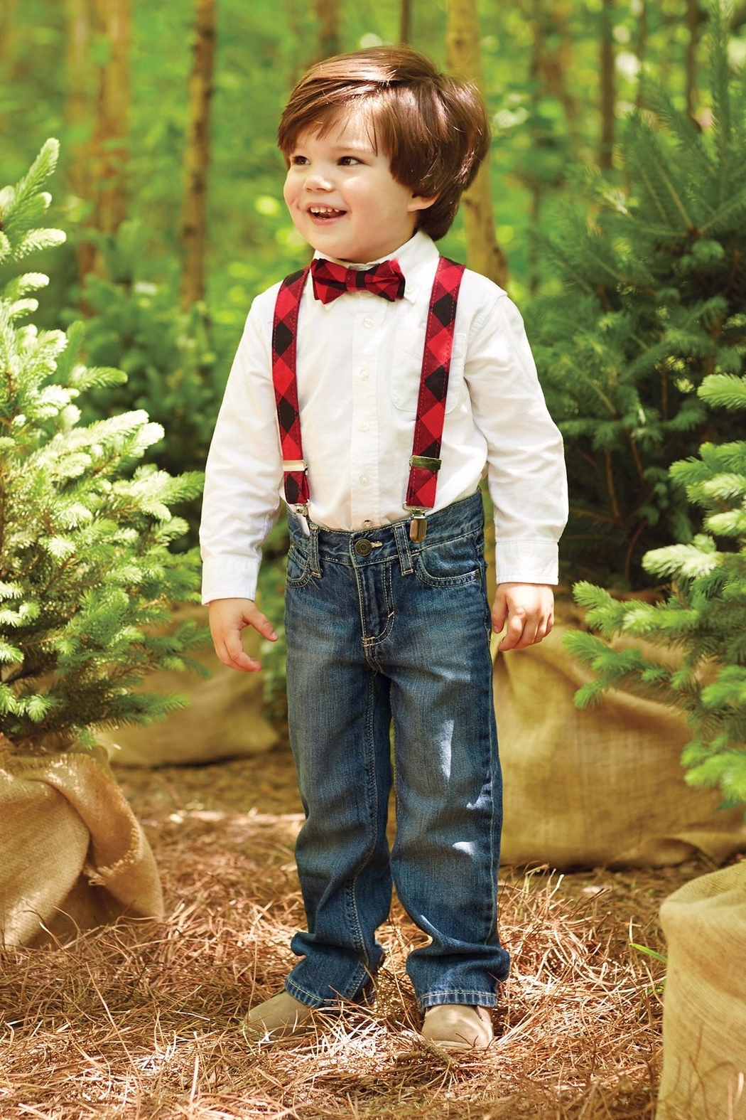 Mud Pie Bow Tie Suspender Set - Front Full Image