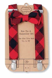 Mud Pie Bow Tie Suspender Set - Front cropped