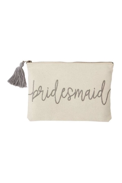 Mud Pie Bridesmaid Canvas Pouch - Alternate List Image