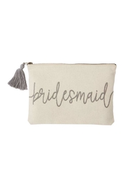 Mud Pie Bridesmaid Canvas Pouch - Product Mini Image