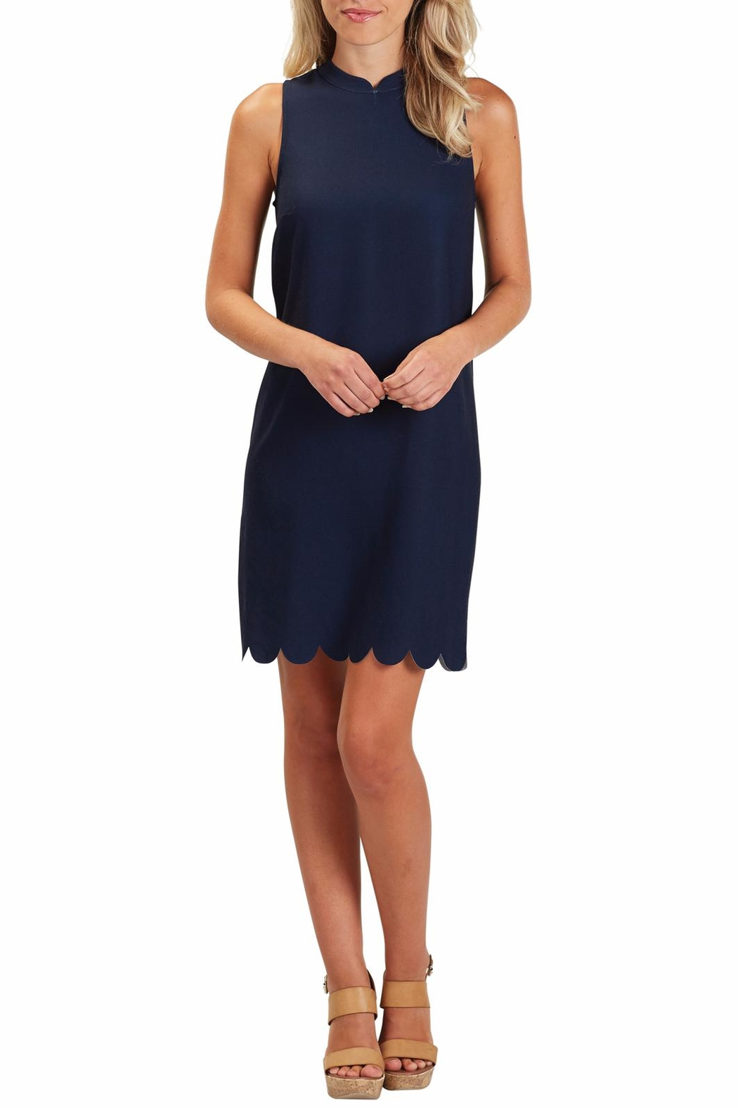 Mud Pie Britain Scalloped Dress - Back Cropped Image