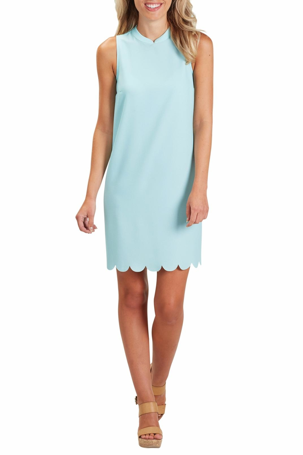 Mud Pie Britain Scalloped Dress - Side Cropped Image