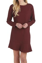 Mud Pie Burgundy Flounce Dress - Product Mini Image