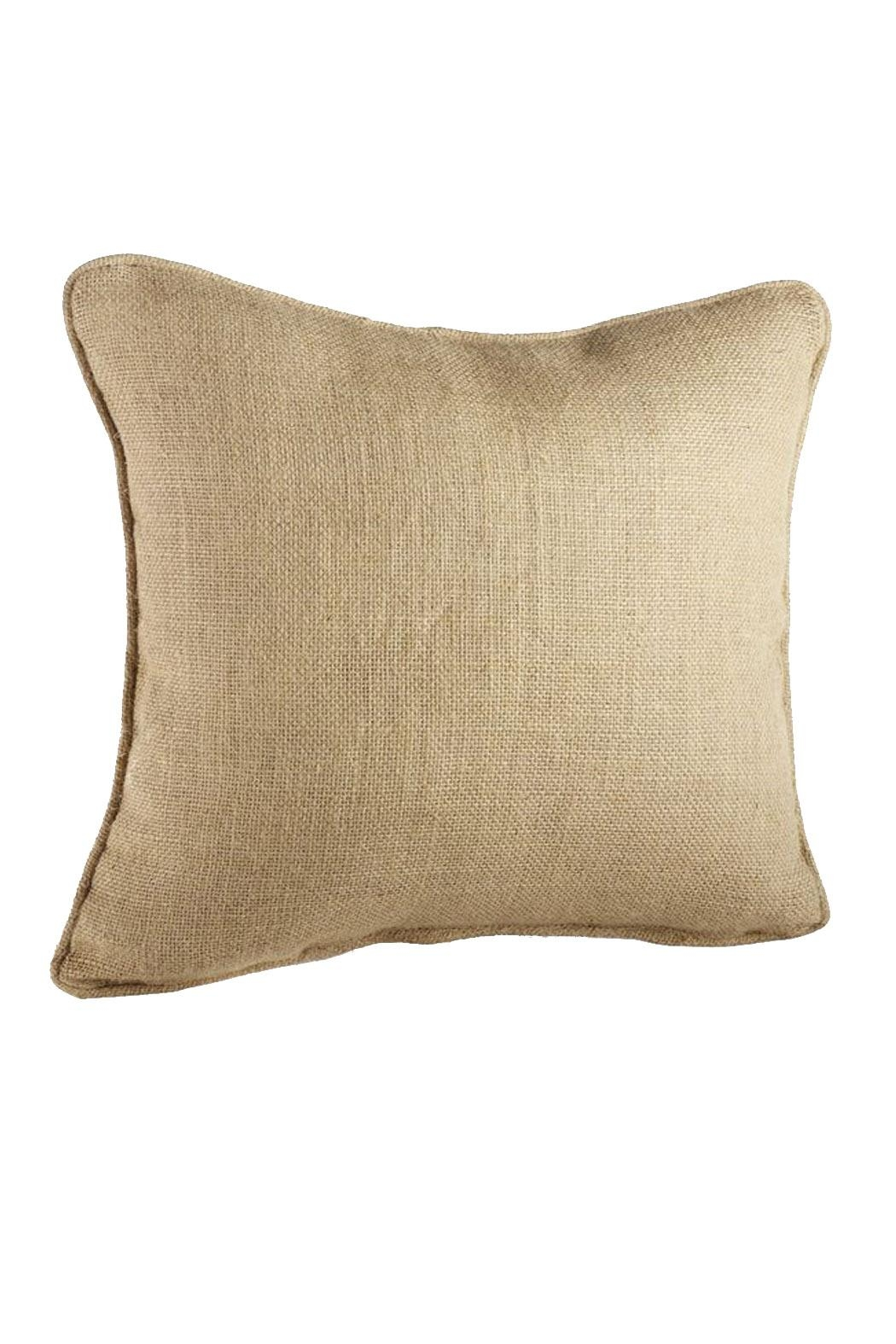 Mud Pie Burlap Pillow - Front Cropped Image