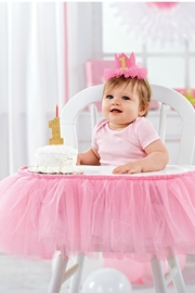 Mud Pie Cake Topper & Crown - Front full body