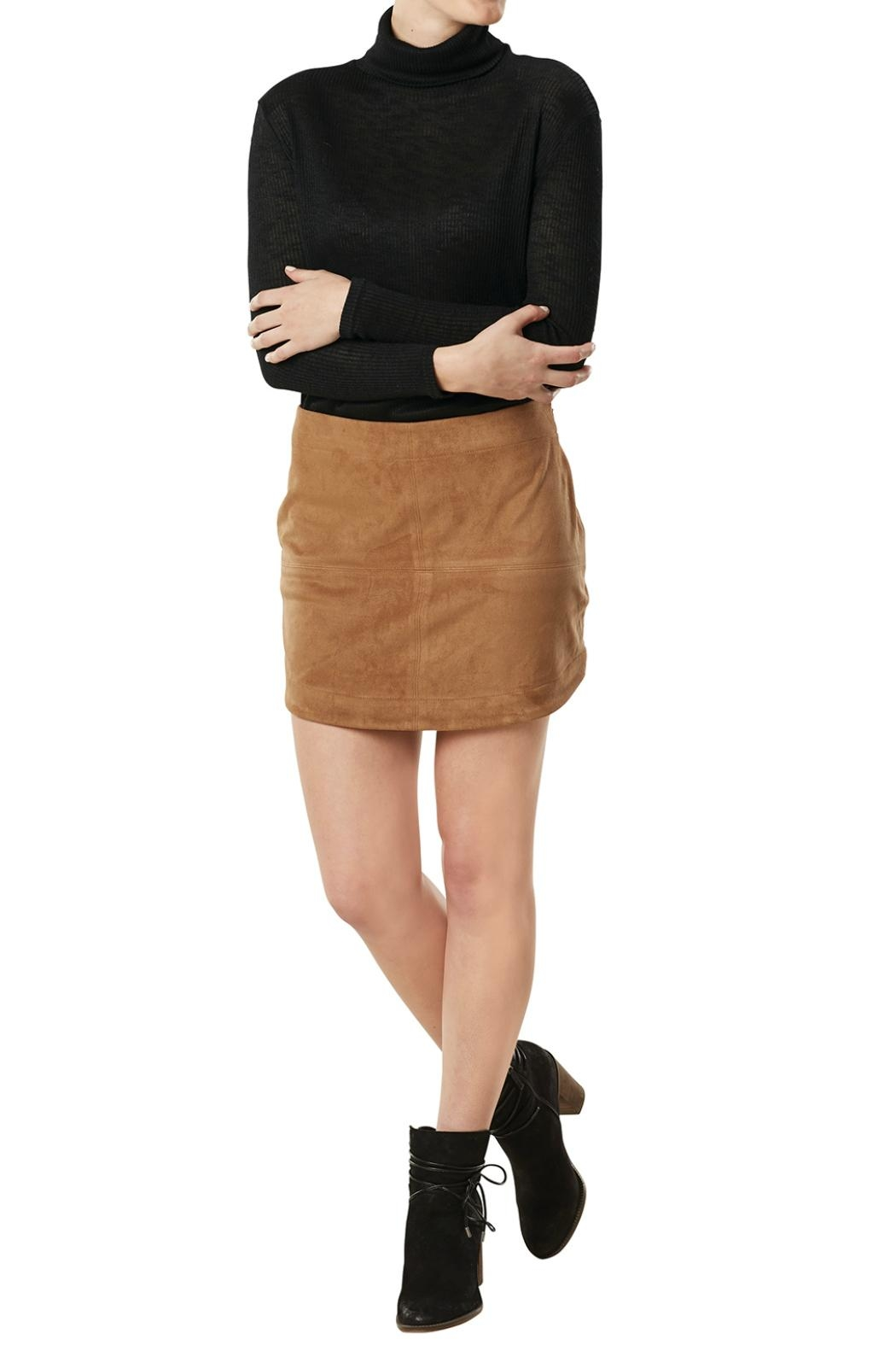 Mud Pie Camel Colored Suede Skirt - Main Image