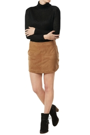 Mud Pie Camel Colored Suede Skirt - Front cropped