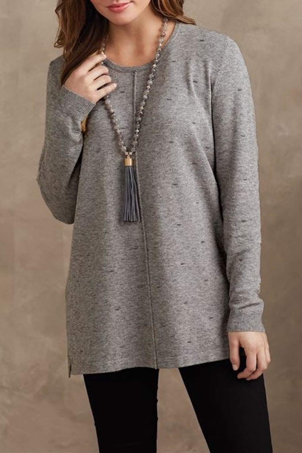 Mud Pie Camilla Sweater Tunic - Front Full Image