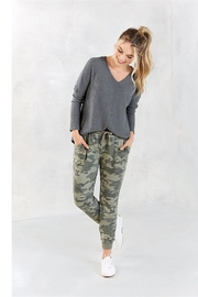 Mud Pie Camo Jogger Pants - Front cropped