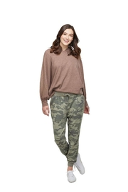 Mud Pie Camo Jogger Pants - Front full body