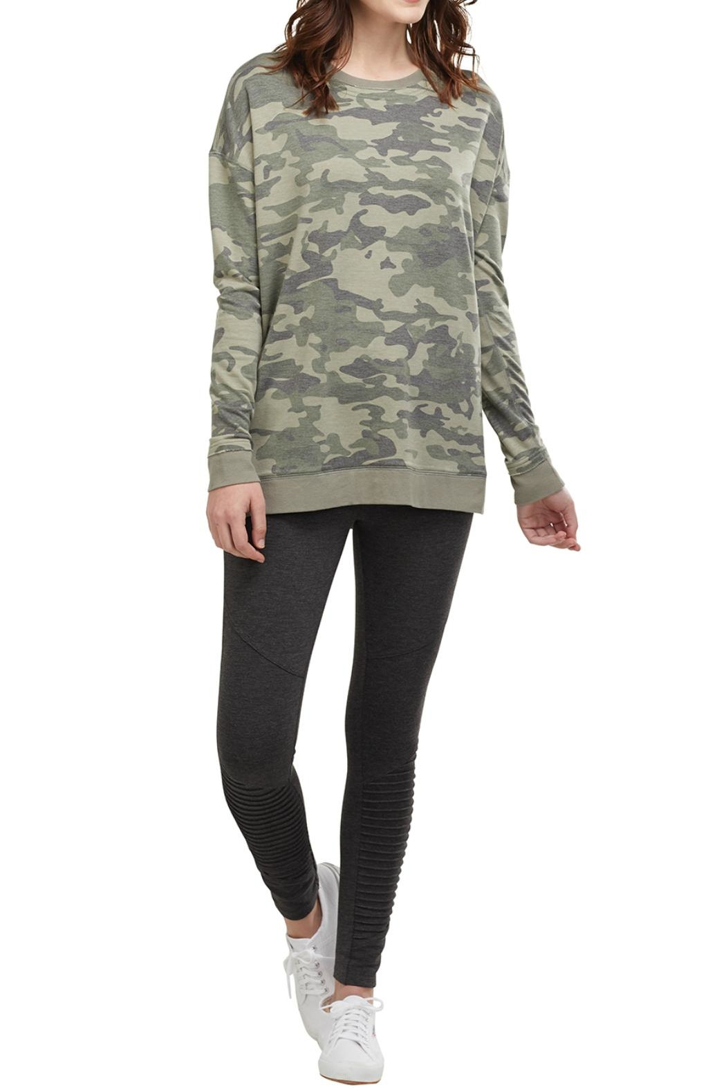 Mud Pie Camo Sweatshirt - Front Cropped Image