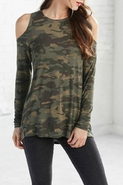 Mud Pie Camouflage Cold Shoulder - Product Mini Image