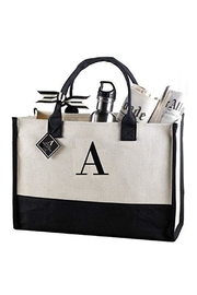 Mud Pie Canvas Initial Tote - Product Mini Image