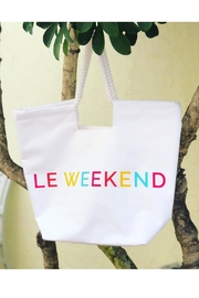 Mud Pie Canvas Le Weeked Tote - Product Mini Image