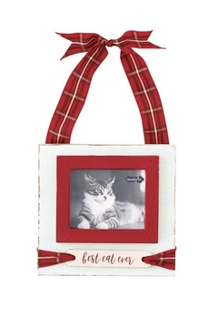Mud Pie Cat Tartan Frame - Alternate List Image