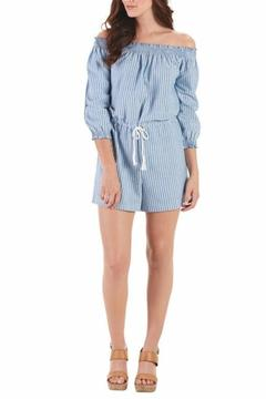 Shoptiques Product: Chambray Off Shoulder Romper