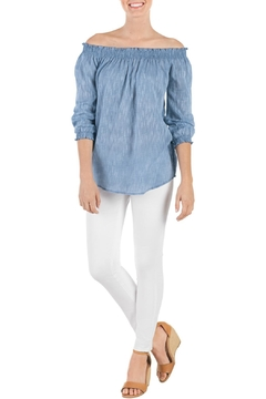 Mud Pie Chambray Off-Shoulder Top - Alternate List Image