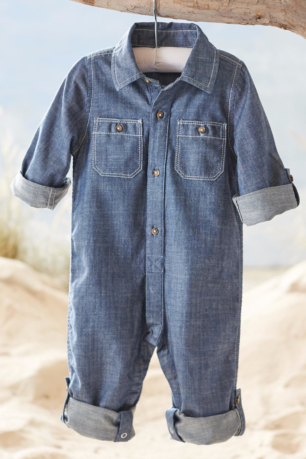 Mud Pie Chambray One Piece - Main Image