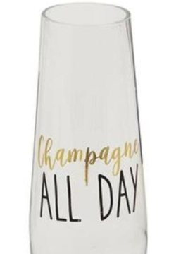Mud Pie Champagne All Day Stemless Glasses - Product List Image