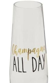Mud Pie Champagne All Day Stemless Glasses - Front cropped
