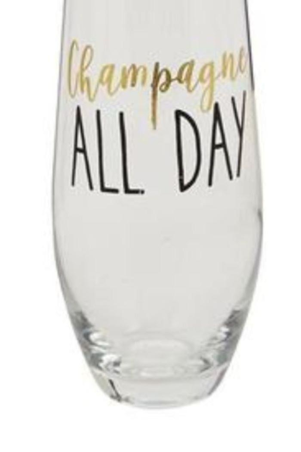 Mud Pie Champagne All Day Stemless Glasses - Side Cropped Image