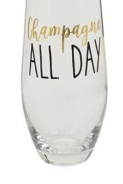 Mud Pie Champagne All Day Stemless Glasses - Alternate List Image