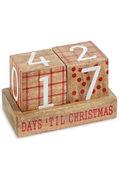 Mud Pie Christmas Countdown Blocks - Alternate List Image
