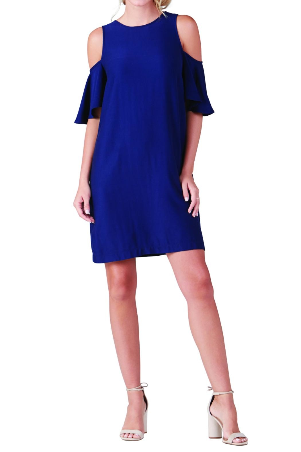 Mud Pie Cold Shoulder Dress - Main Image