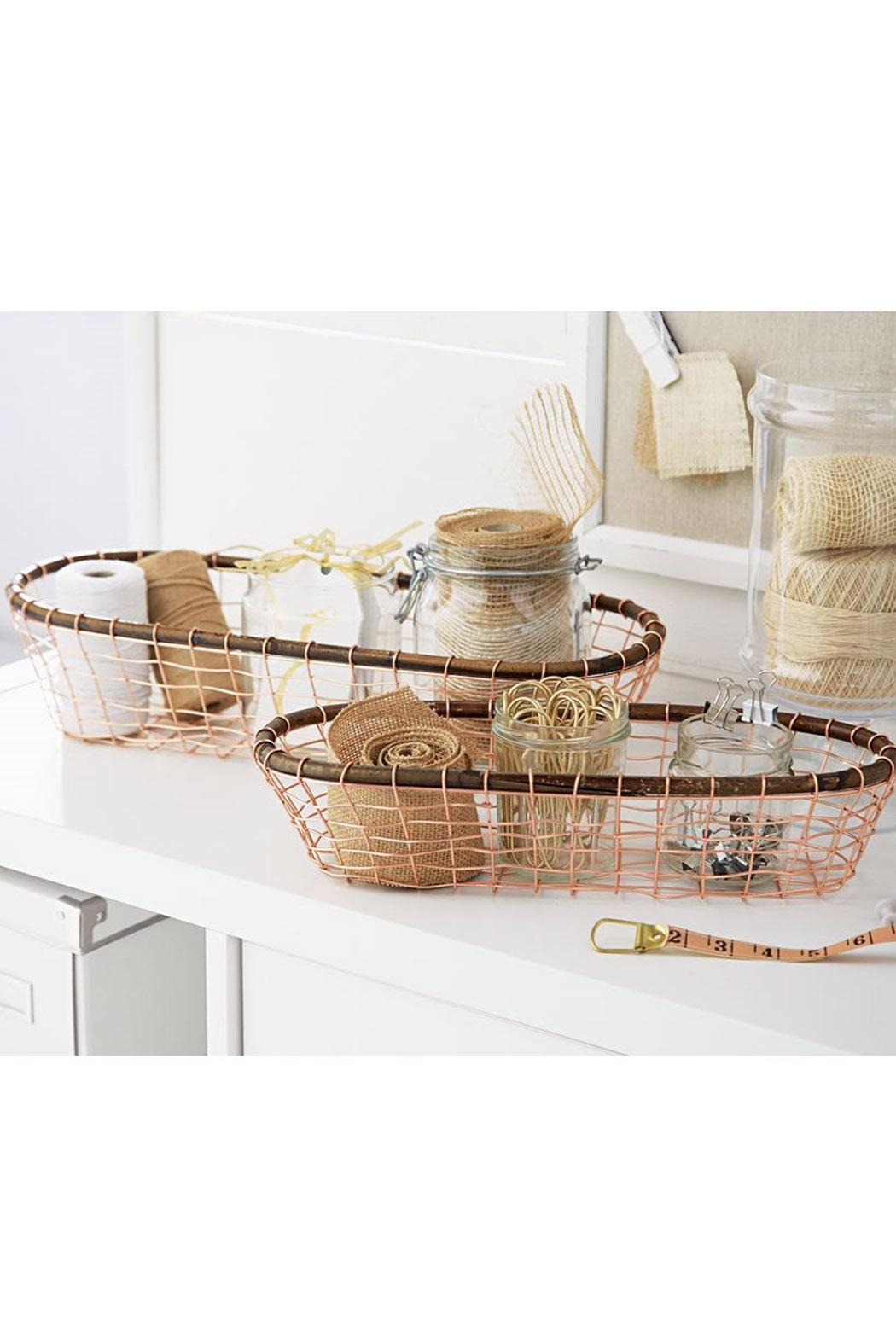 Mud Pie Copper Basket Set - Front Full Image