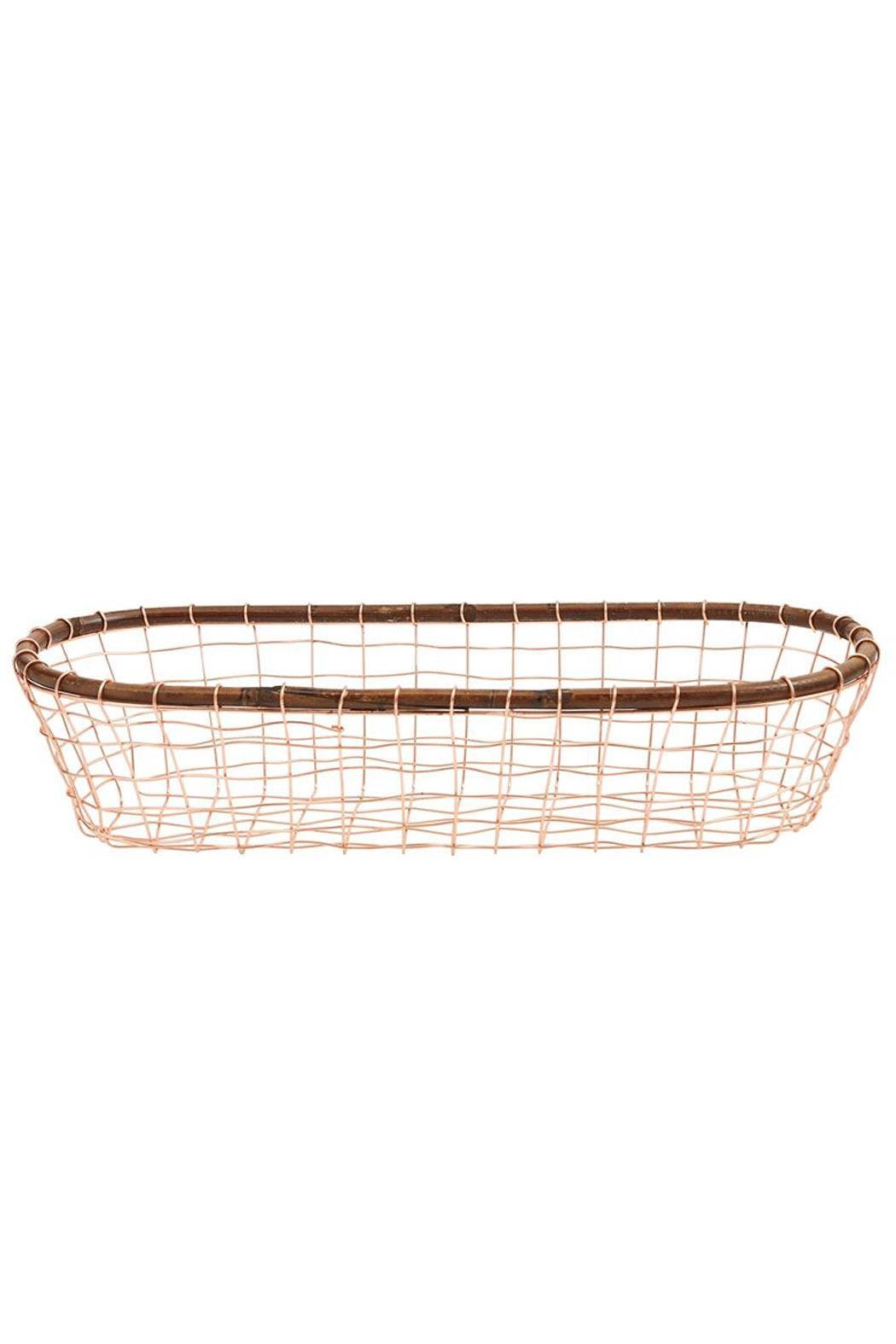Mud Pie Copper Basket Set - Front Cropped Image