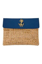 Mud Pie Cork Anchor Clutch - Product Mini Image