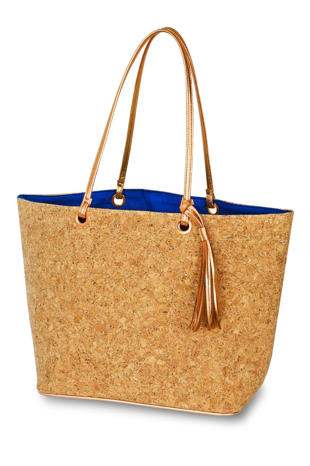 Mud Pie Cork Tote Bag - Front Cropped Image