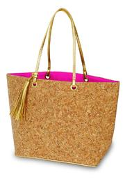Mud Pie Cork Tote Bag - Front cropped