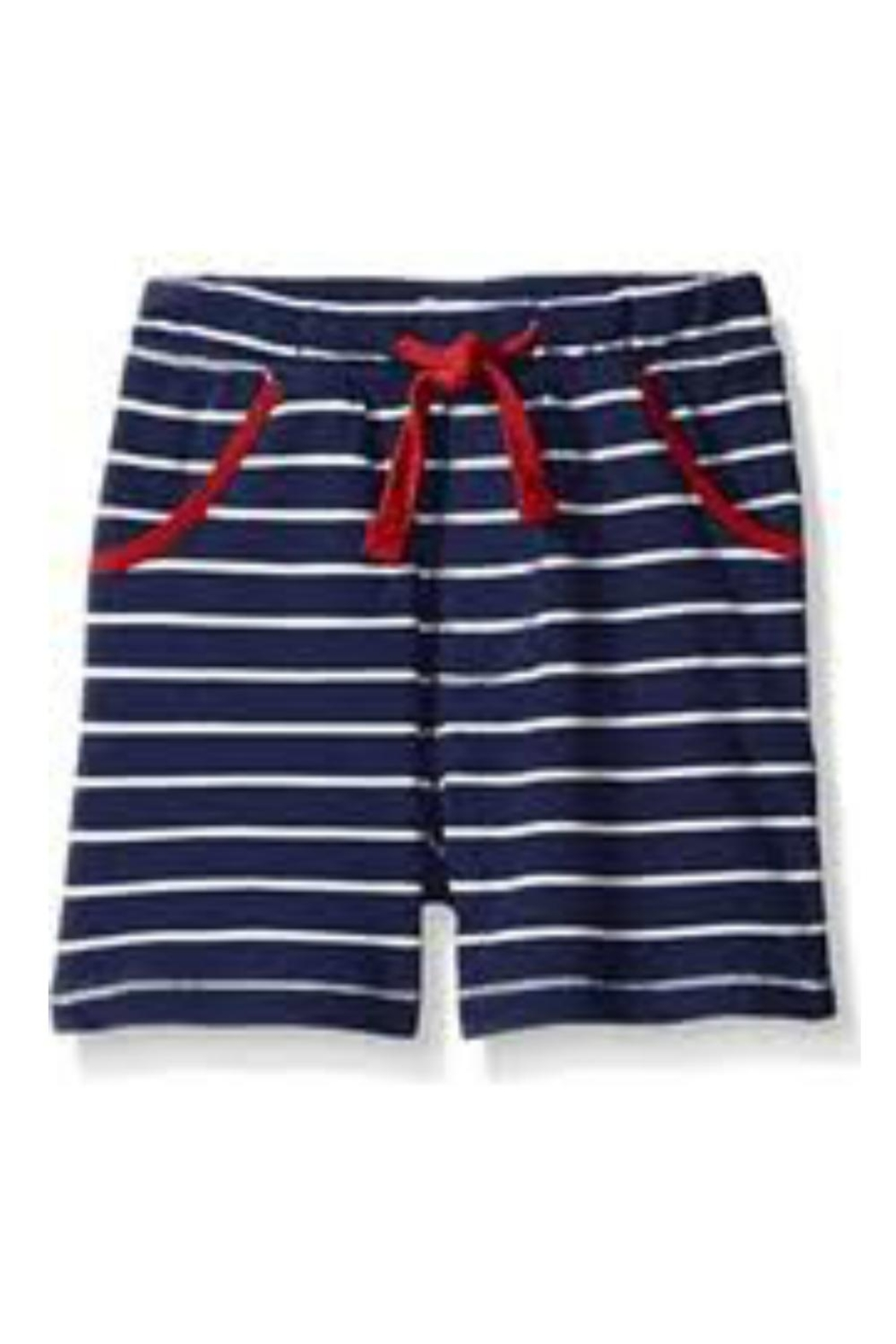 Mud Pie Cotton Drawstring Shorts - Front Cropped Image