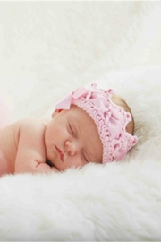 Mud Pie Crochet Baby Crown - Front full body