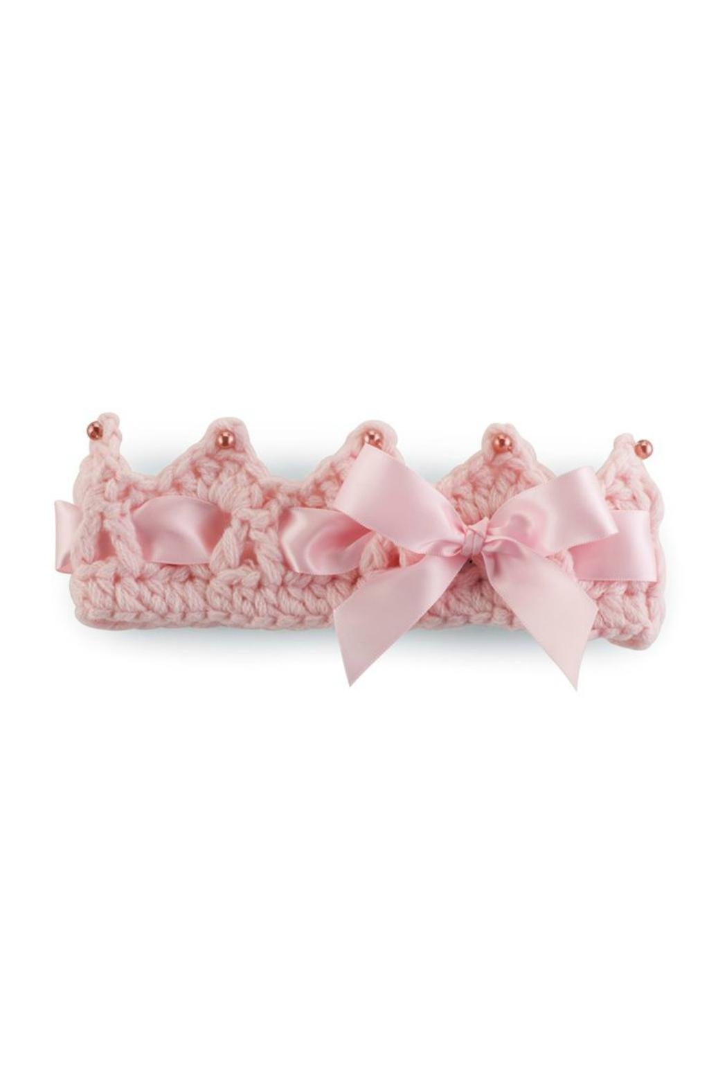 Mud Pie Crochet Baby Crown - Front Cropped Image