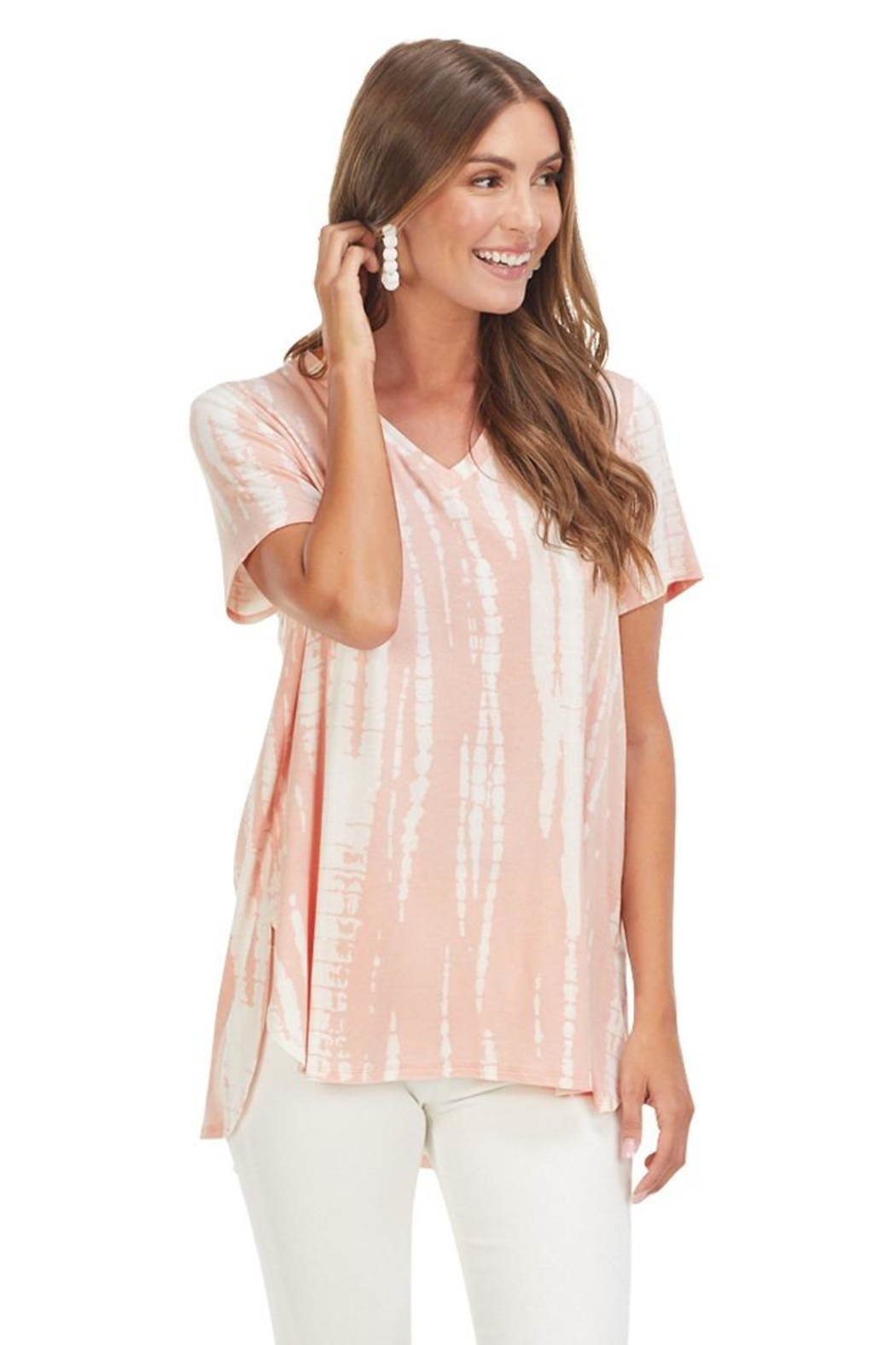 Mud Pie Dani T-Shirt Blush - Front Full Image