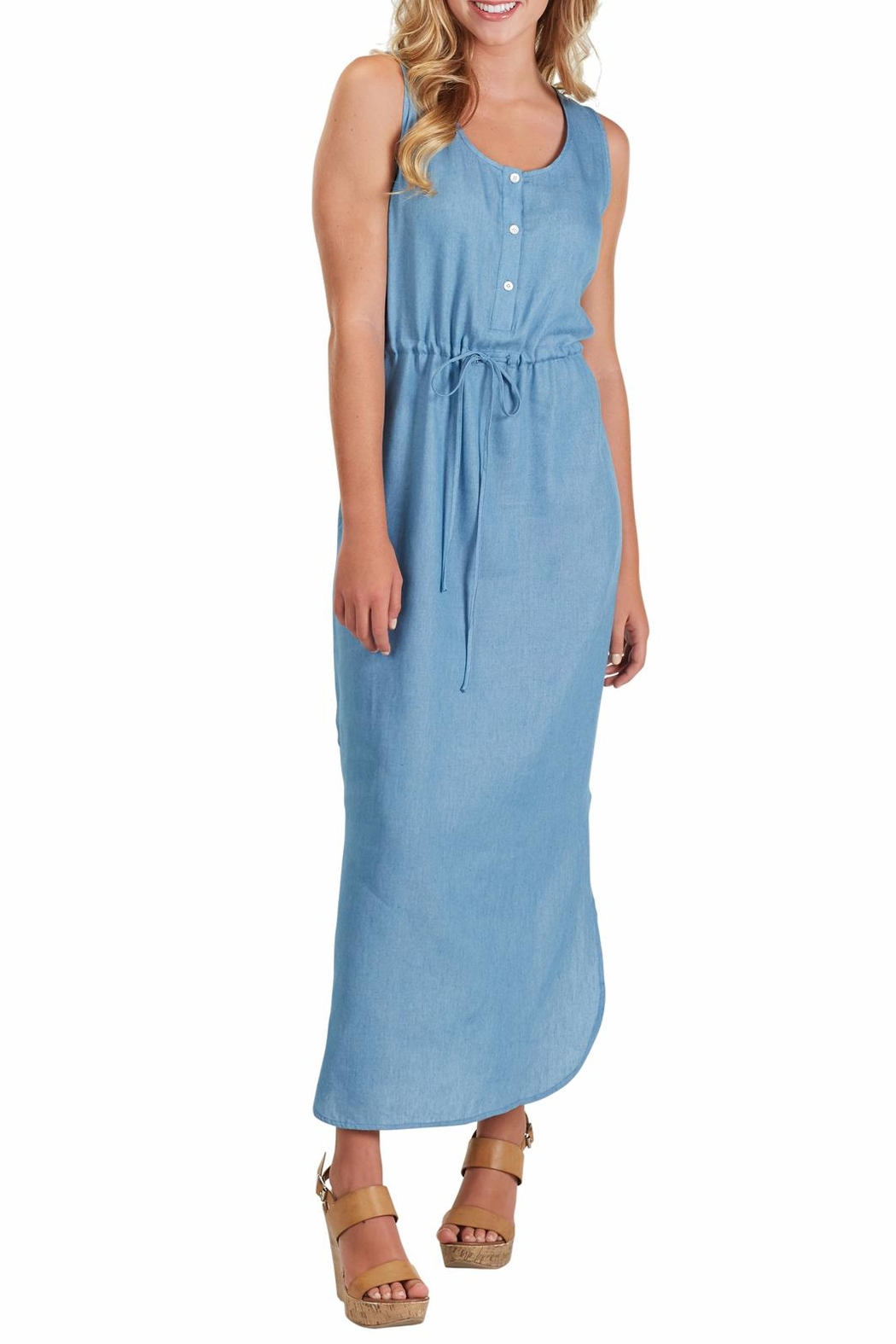 Mud Pie Derby Maxi Dress - Back Cropped Image
