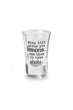 Mud Pie Drinking-Sentiment Shot-Glass Lemons - Alternate List Image