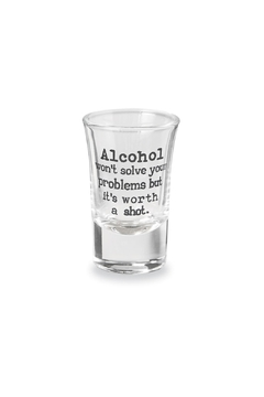 Mud Pie Drinking-Sentiment Shot-Glass Worth - Product List Image