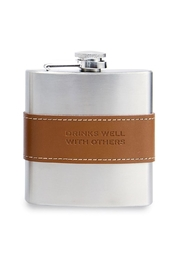 Mud Pie Drinks Well Flask - Front cropped