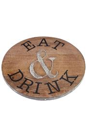 Mud Pie Eat Lazy Susan - Front cropped
