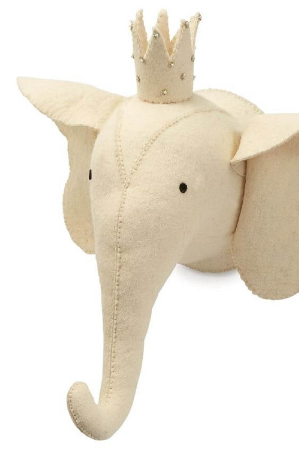 Mud Pie Elephant Safari Wool Wall Mount - Front Cropped Image
