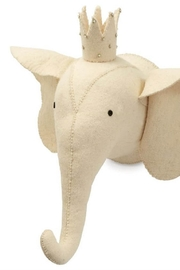Mud Pie Elephant Safari Wool Wall Mount - Front cropped