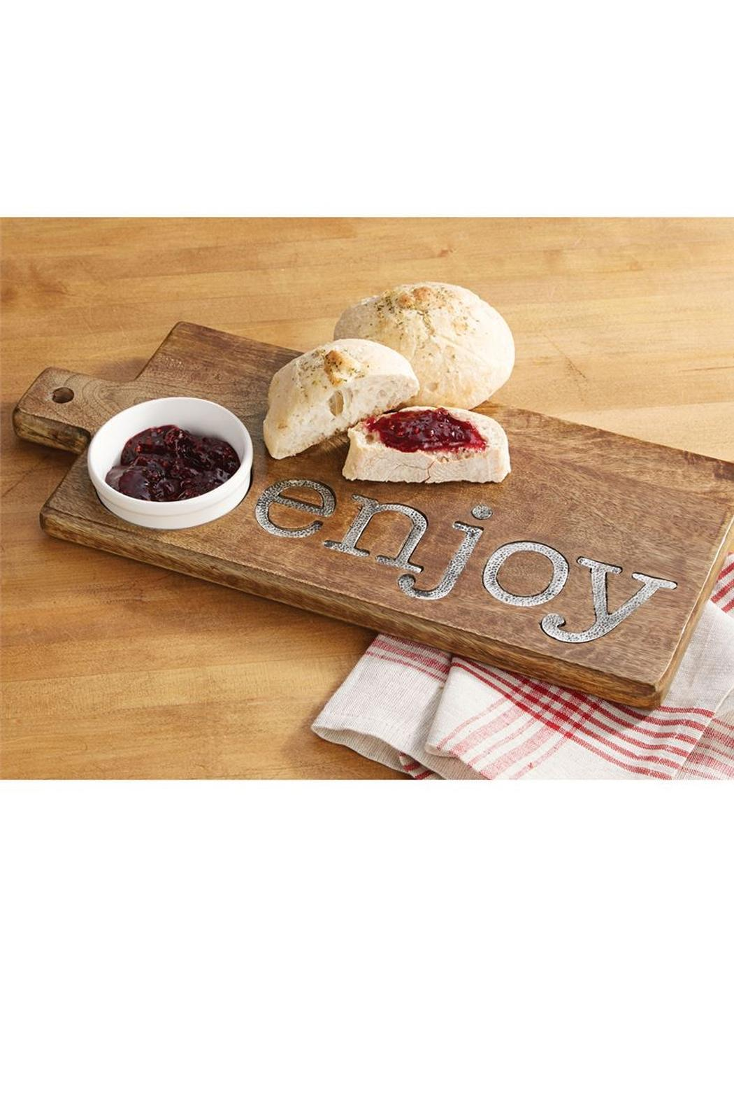 Mud Pie Enjoy Cutting Board - Front Full Image