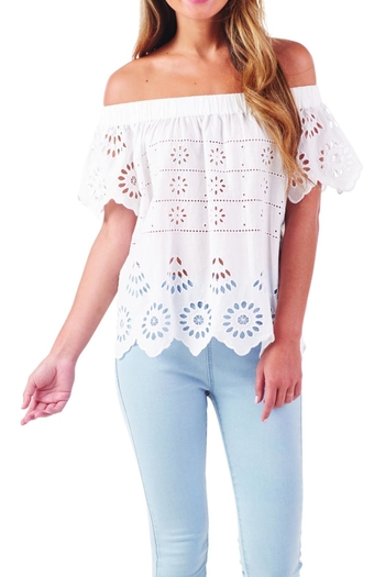 17003f3229 Mud Pie Eyelet Off-The-Shoulder Top from Virginia by Mary Barnett's —  Shoptiques