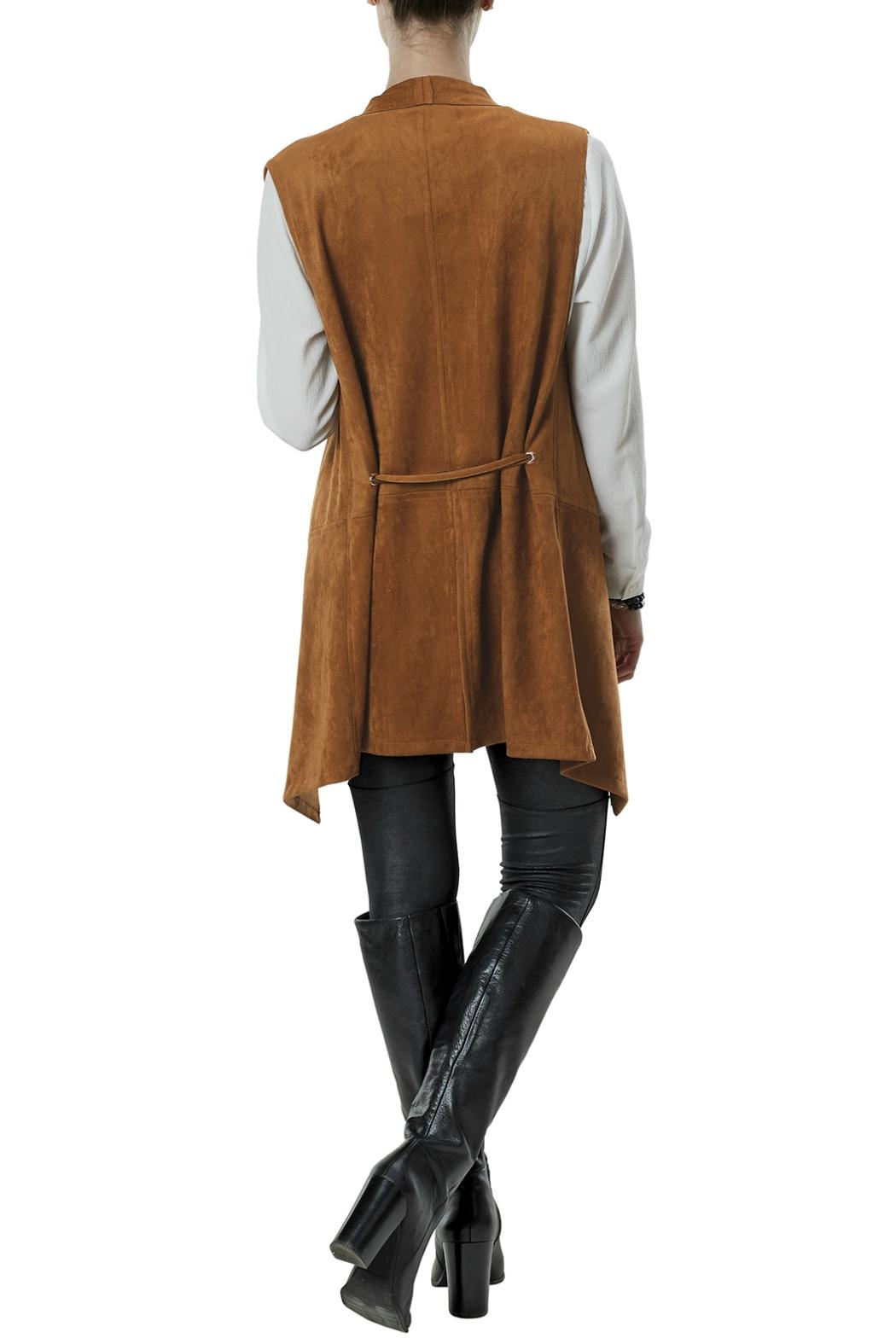 Mud Pie Faux Suede Vest - Front Full Image