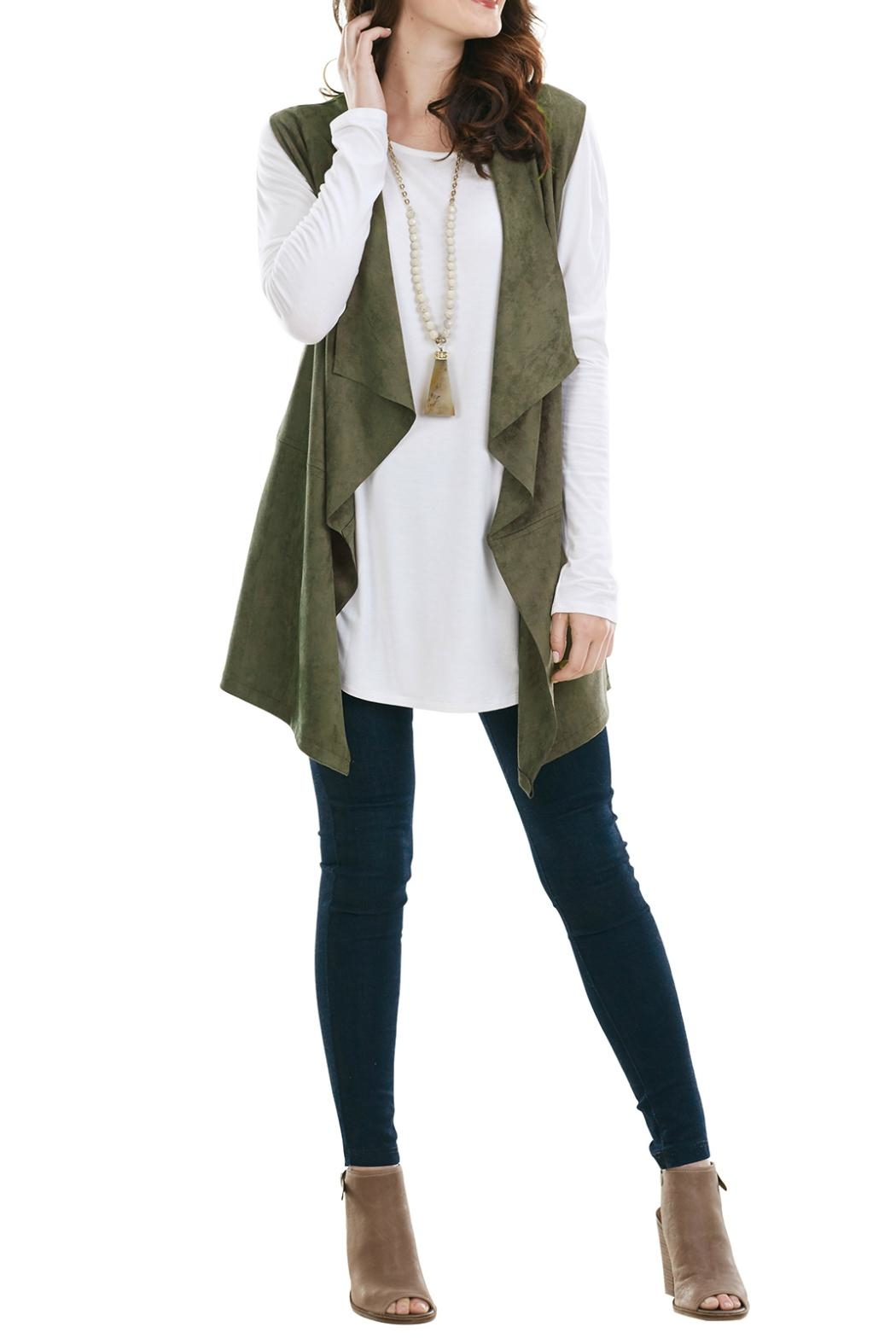 Mud Pie Faux Suede Vest - Main Image