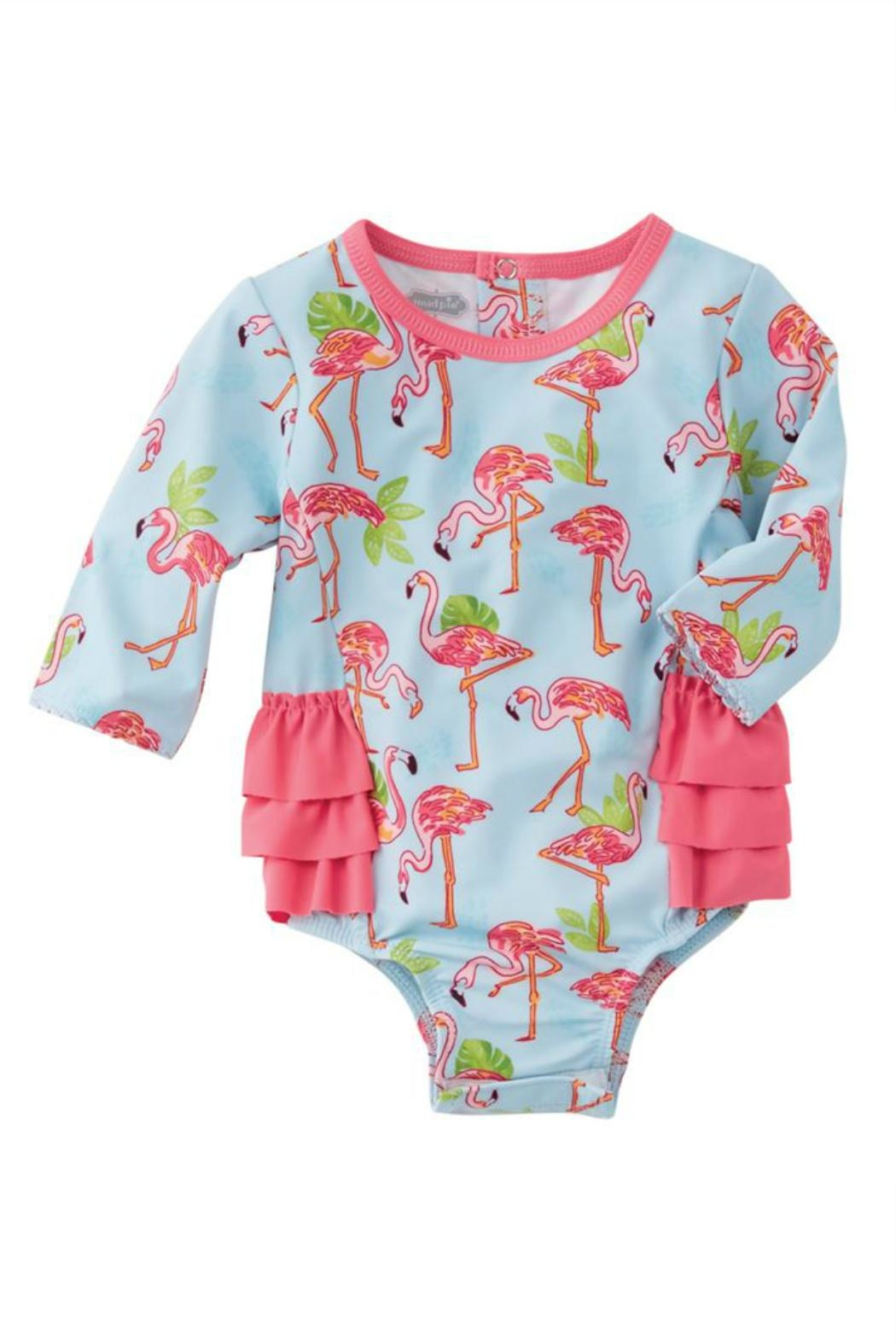 Mud Pie Flamingo Rash Guard - Front Full Image